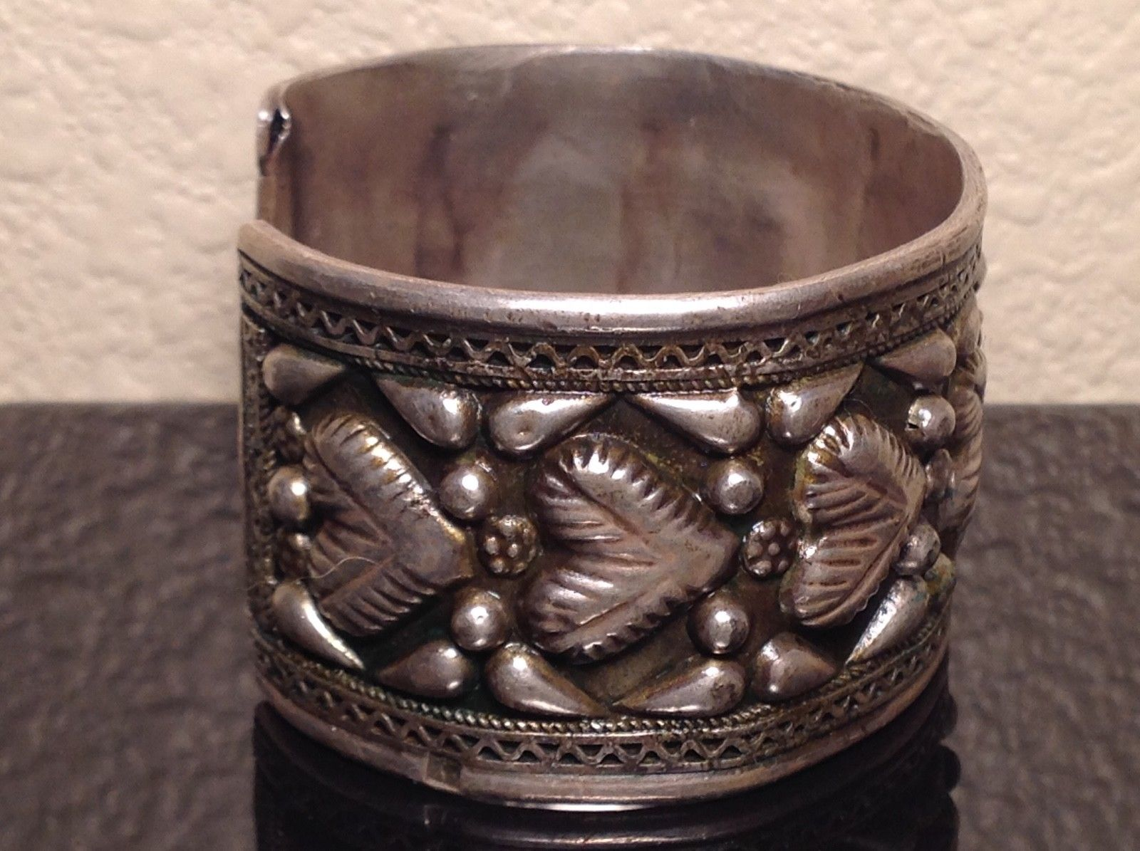 Vintage Egyptian Silver Cuff Bracelet Treasure Adoption Agency