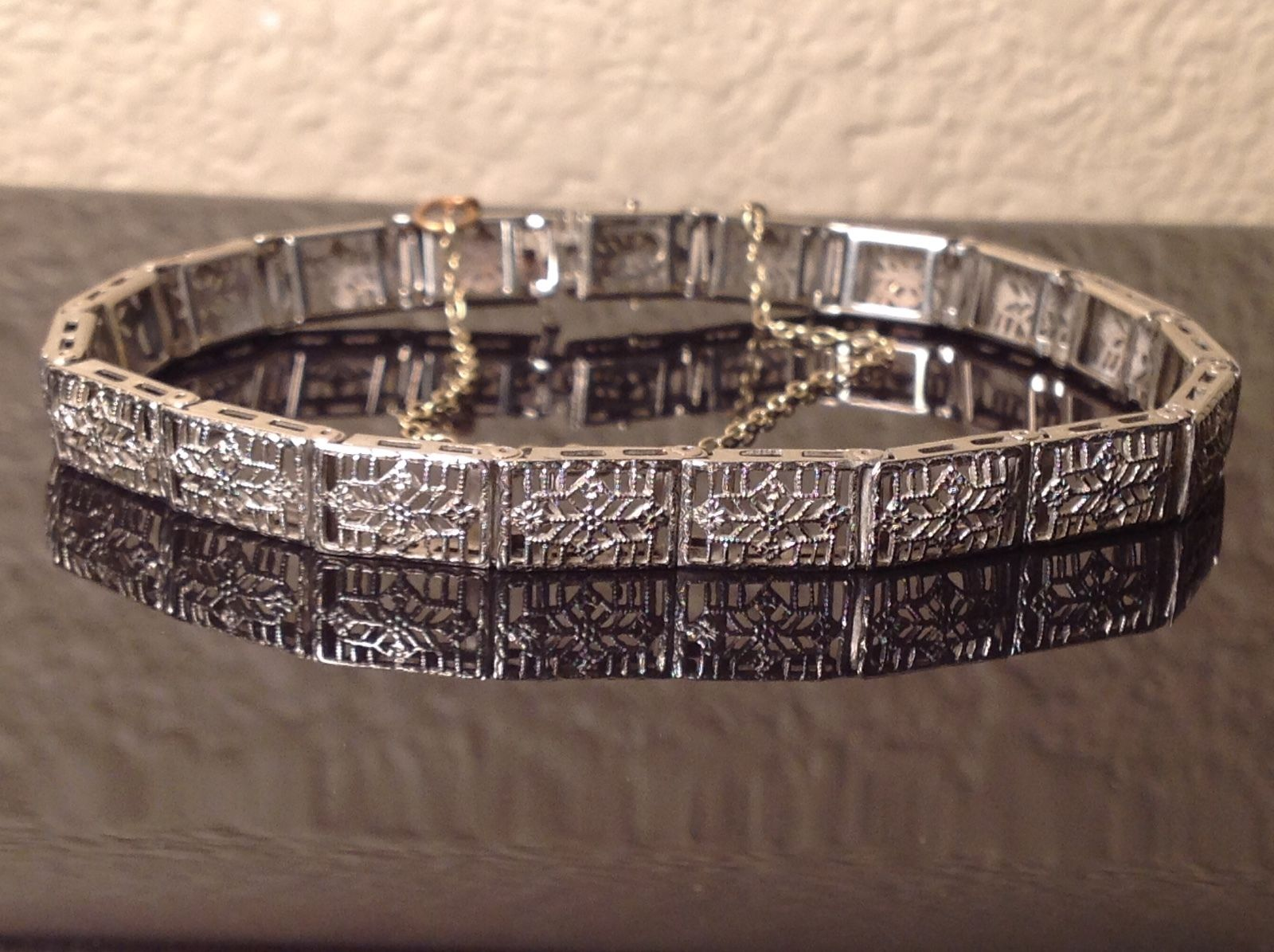 Antique White Gold Bracelet Image And Candle